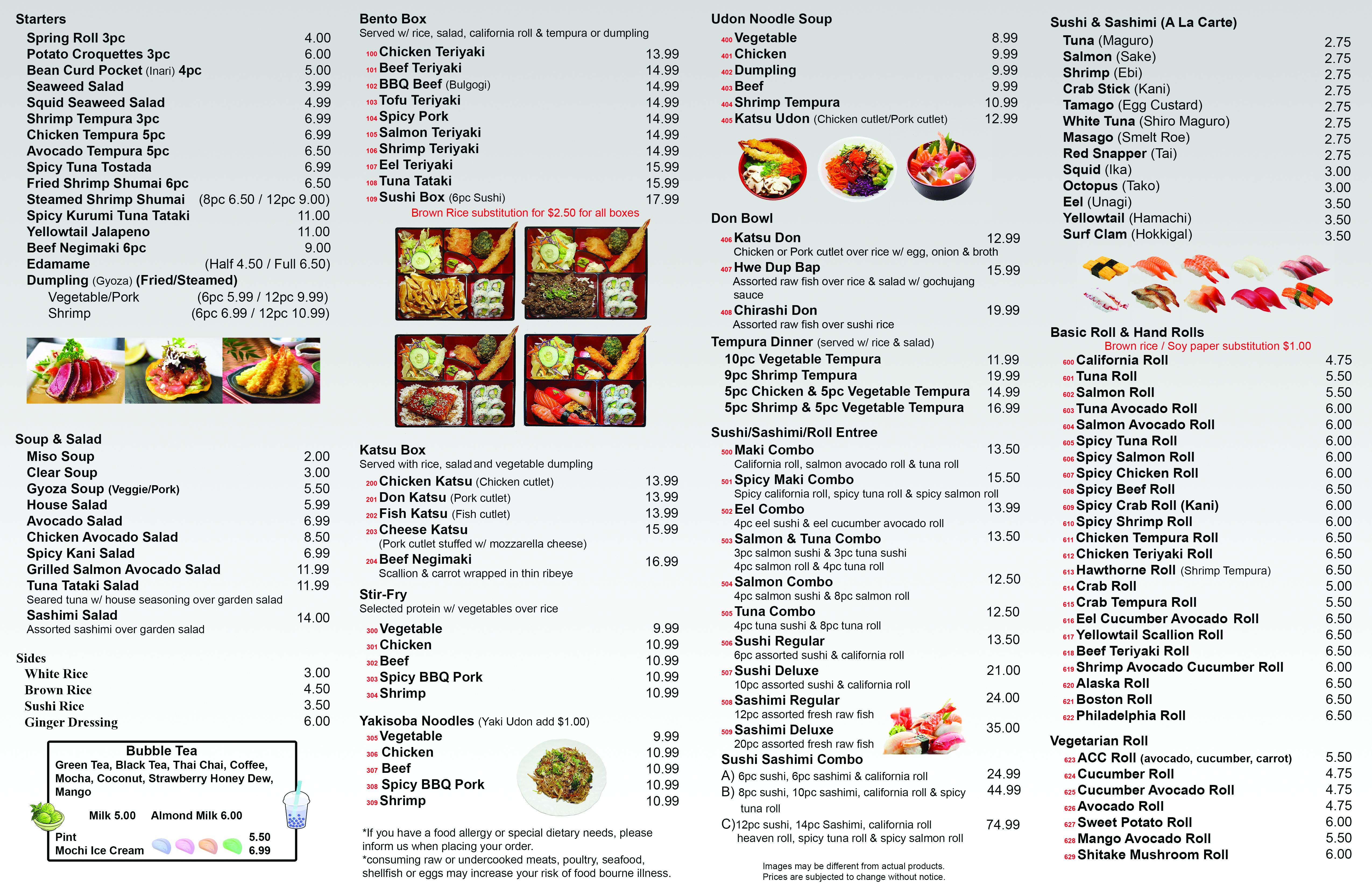 inside menu web